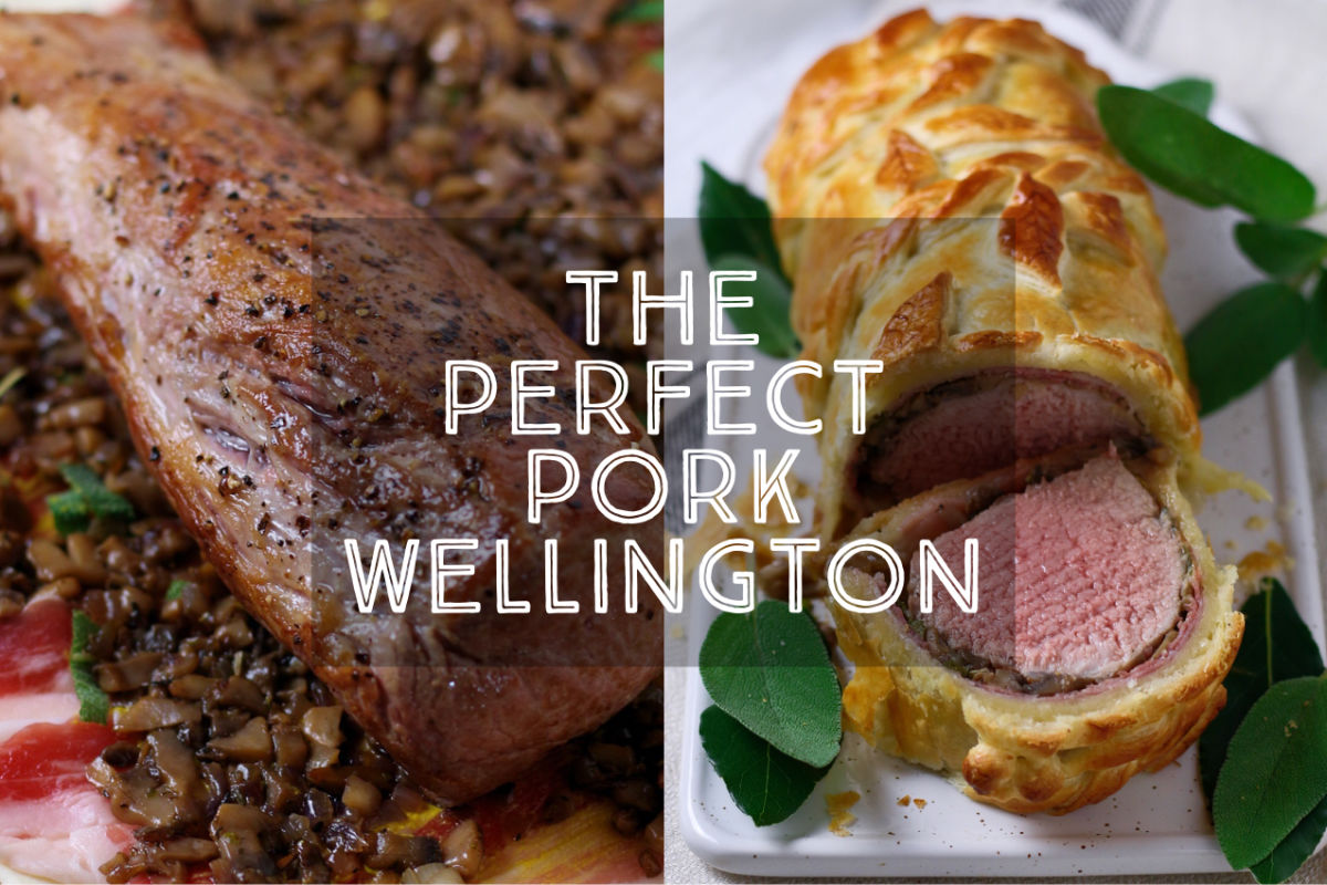 Juicy, perfectly cooked pork tenderloin, wrapped in prosciutto, mushrooms and buttery puff pastry. This is truly the Perfect Pork Wellington, my dinner party secret weapon. Better yet, it is even easier to make than it looks!