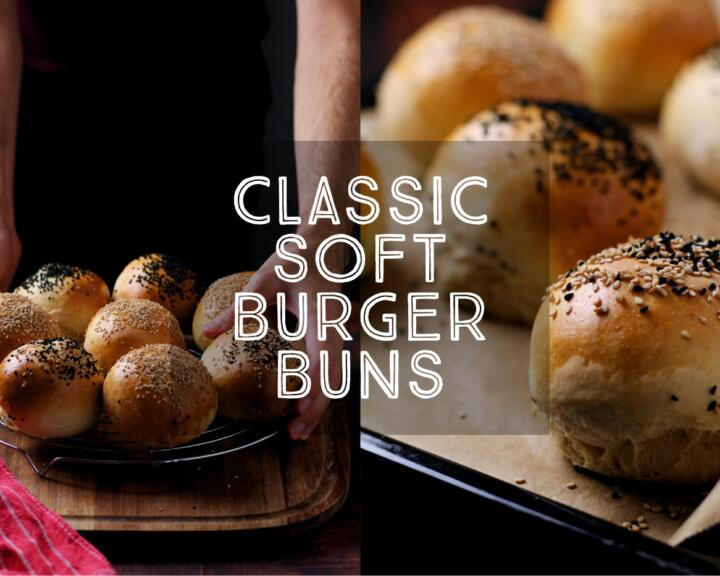 Soft Burger Buns are so easy to make at home and are miles better than store-bought. Try this fool-proof recipe a try and give your burgers the buns they deserve!