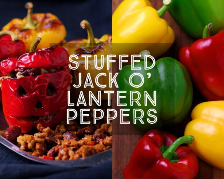 With Halloween just around the corner, who could resist these spookily delicious Jack o' Lantern Peppers filled with rich and spicy chilli beef?
