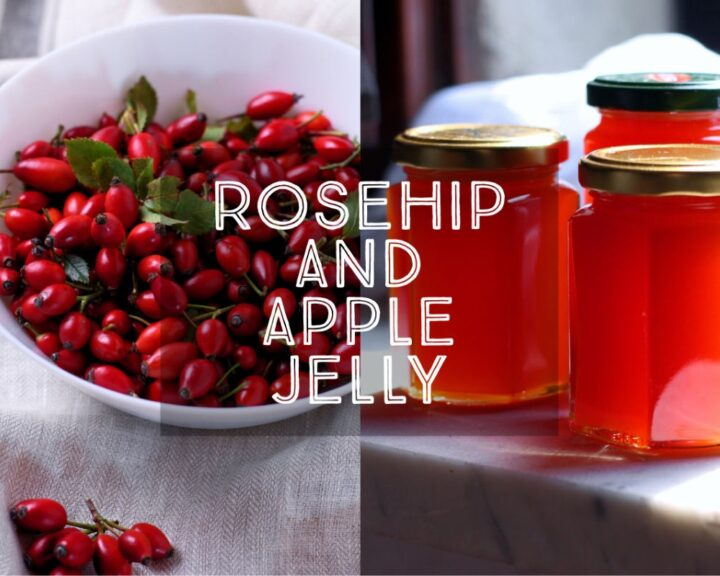 Sweet, tart and wonderfully autumnal, Rosehip and Apple Jelly is full of the flavours of the fall. Perfect for serving with scones and whipped cream or alongside a cheeseboard with some tangy cheddar.